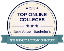 2018 top online colleges best value -bachelor's S.R. education group