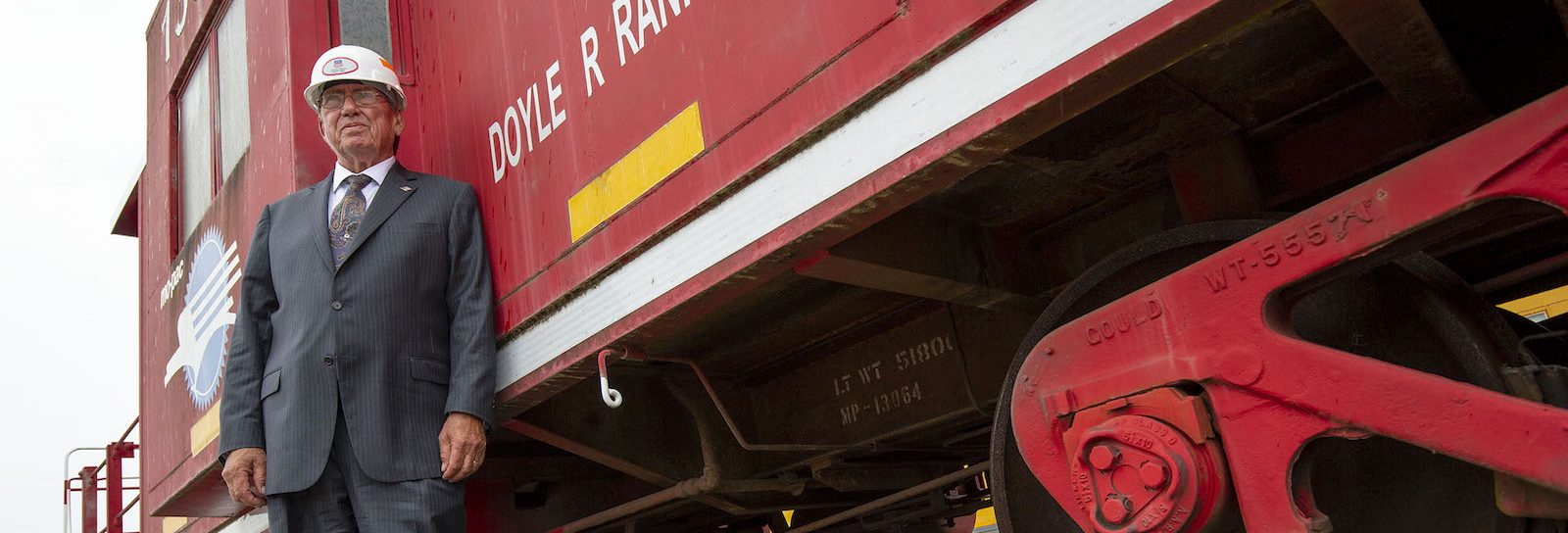 Photo by BENJAMIN KRAIN —05/4/18-- Doyle Rankins will be graduating UA Little Rock in Spring 2018 after dropping out of college 50 years ago. Rankins took a job at Union Pacific Railroad in 1969 and recently retired as one of the company's top managers and is the only person to get his name on a train car, a 1960's patio caboose.