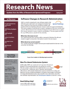 research news newsletter spring 2020