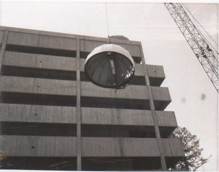 Observatory Dome Lifted