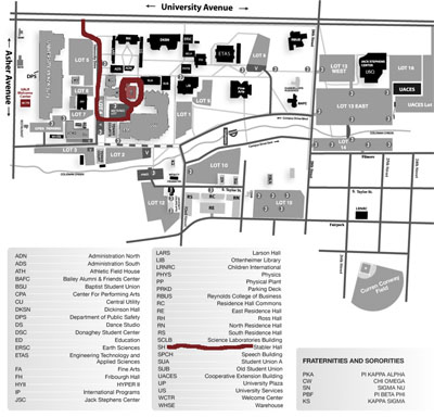 Campus Map - Stabler Hall