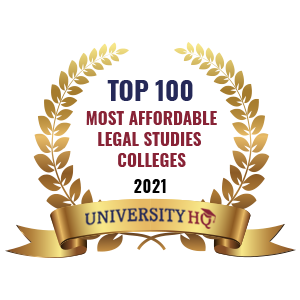 Top 100 Most Affordable Legal Studies Colleges 2021 by University HQ