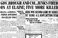 Newspaper Image from time of Elaine Race Riots