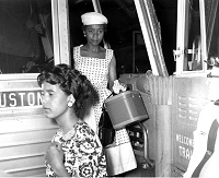 Freedom Riders arrive in Little Rock, Ark. July 10, 1961