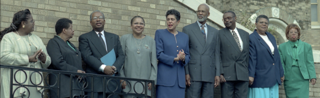 Little Rock Nine at 40th Anniversary Celebration: (Will Counts Collection: Indiana University Archives)