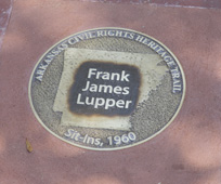 Frank James Lupper's Marker on the Arkansas Civil Rights Heritage Trail