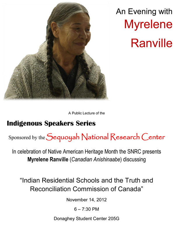 Indigenous Speakers Series at UALR 2012
