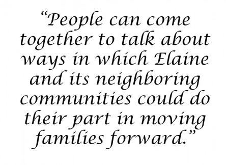 Quote from Elaine Healing the Land Ceremony in 2012