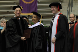 Gertrude Jackson recieves honorary degree at UALR Fall Commencement 2012