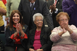Supporters, friends, and family celebrate at reception held in Gertrude Jackson's honor