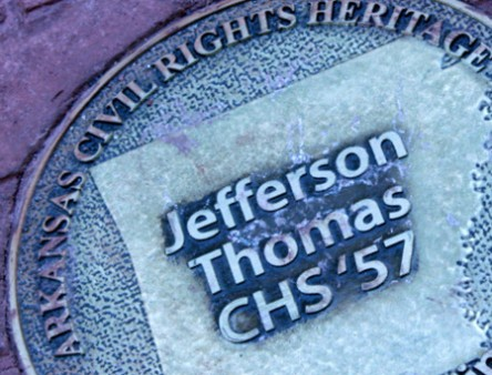 Civil Rights Heritage Marker of Little Rock Nine member Jefferson Thomas