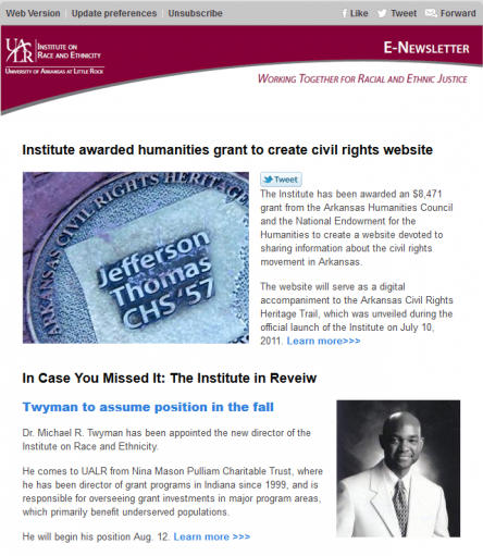 E-newsletter Archives