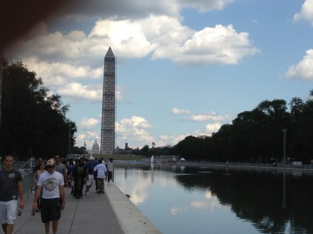 Washington Monument during 50th anniversary of March on Washington