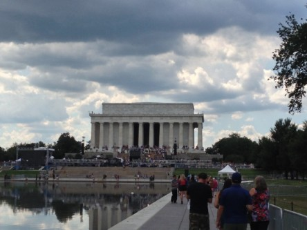 Lincoln Memorial during 50th anniversary of March on Washington