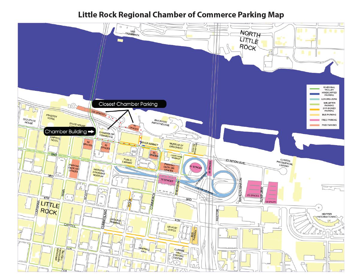 Chamber Parking Map