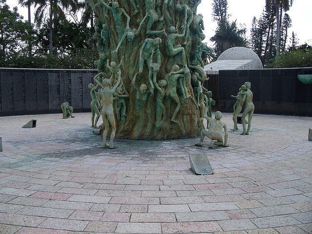 Base of  Holocaust Memorial in Miami, Florida (photo courtesy of Captain G. White)