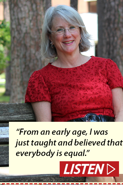 """From an early age, I was just taught and believed that everybody is equal."" Listen to Cathi Compton interview."