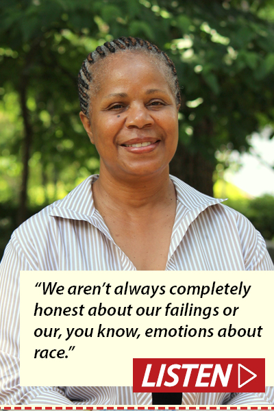 """We aren't always completely honest about our failings or our, you know, emotions about race."" Listen to Janis Kearney interview."