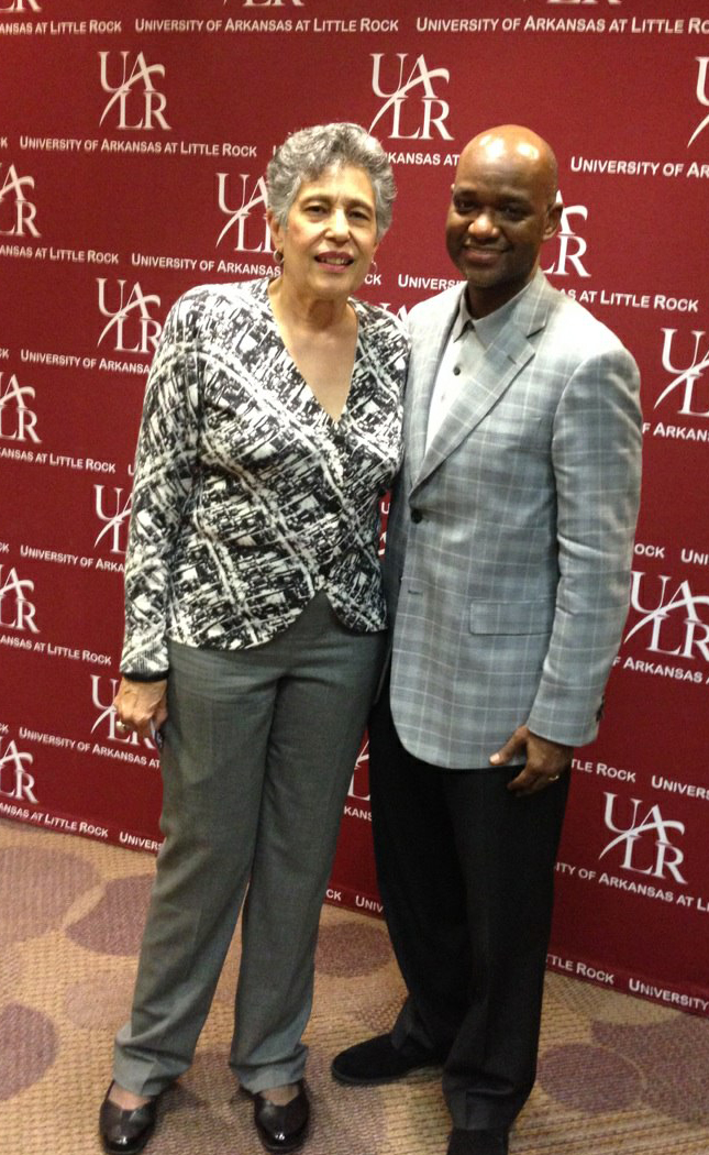 Carlotta Walls LaNier of Little Rock Nine and Dr. Michael R. Twyman, director.