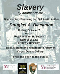Slavery by Another Name and a Q&A session with Douglas A. Blackmon