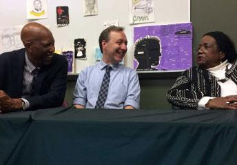 John Kirk commemorates integration of Central High School with Little Rock Nine