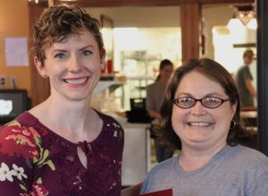 Photo of Amy Cole and Dr. Barb L'Eplattenier