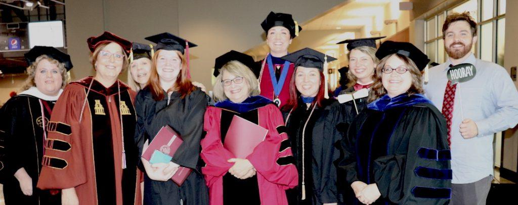 Dr. Karen Kuralt, Dr. Joyce Carter, Dr. Cynthia Nahrwold, Loren Snow (BA), Dr. Joanne Matson, Dr. Sherry Rankins-Robertson, Dr. Londie Martin, Tammy Scaife, Dr. Barb L'Eplattenier, and Dr. Caleb James.