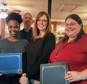 Tina Butler Lee, Amy Rhea, Amber White and Megan Nolan (not pictured) Technical and Workplace Writing Award Winners 2017