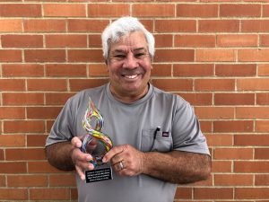 Victor Moya wins the CSSC Showcase Community Engagement Award