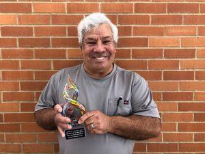 Victor Moya wins the CSSC Showcase Community Engagement Award