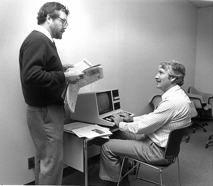 James Parins and Daniel Littlefield, 1983
