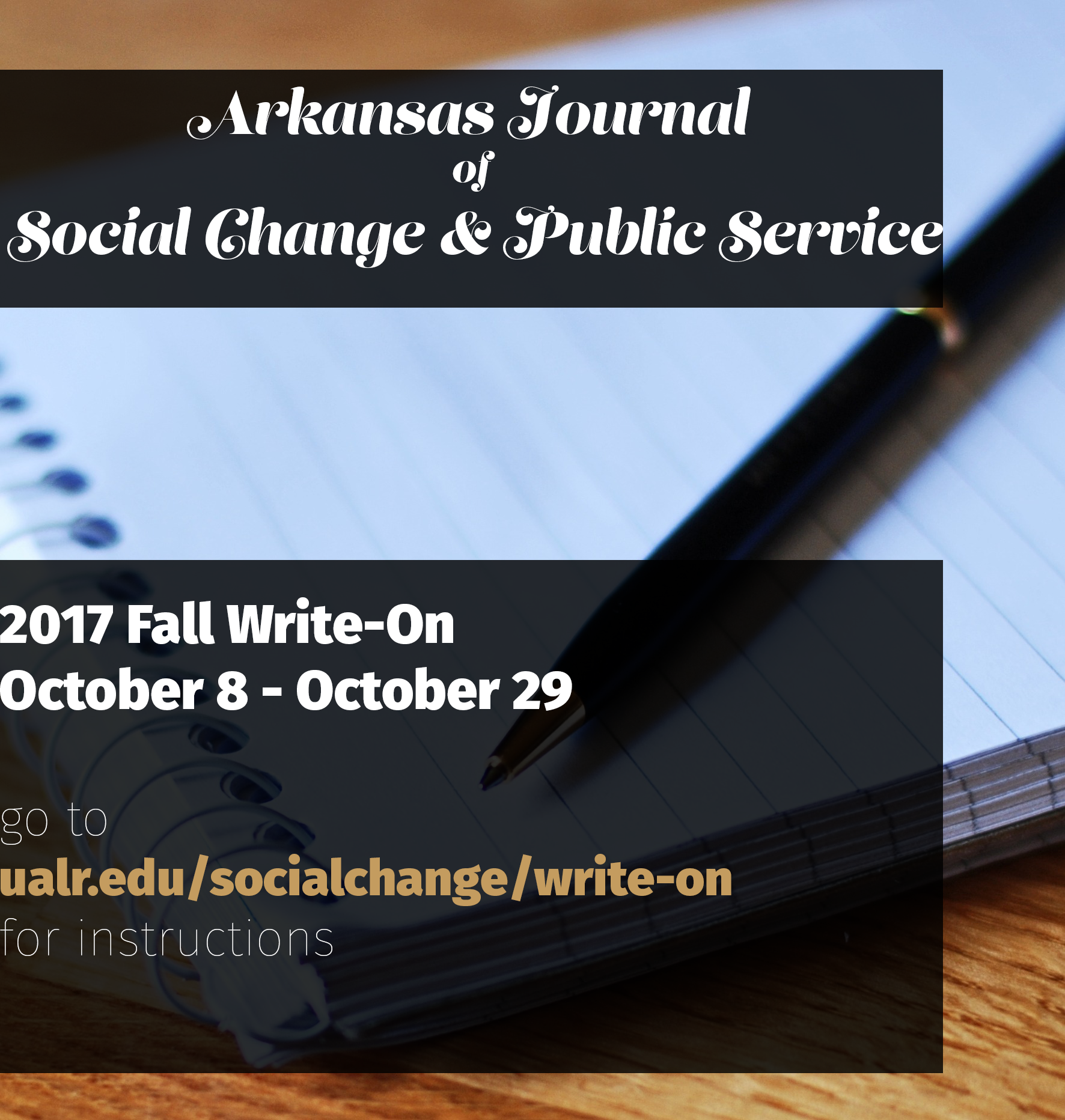 The Journal is hosting its Fall 2017 application period until October 29