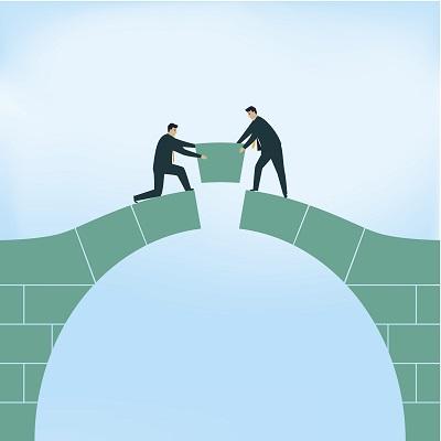 image of bridging a gap