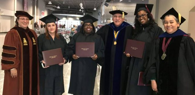 Sociology Professors and Students Gather after graduation