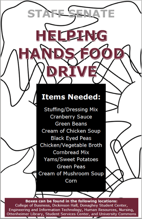 Helping Hands Full List of Food Donation Items - Compressed