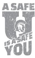 A safe 'U' is a safe you logo