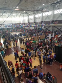 STEM festival in Fitness Center