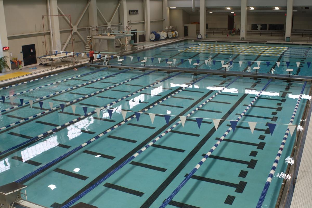 aquatics swim meets held donaghey student center