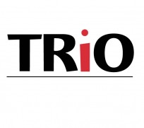 TRiO - logo for Federal trio Programs. Black uppercase with red lowercase i.