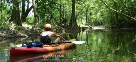 Photo of kayak on Fourche Creek