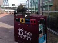 Screen shot of recycling on campus