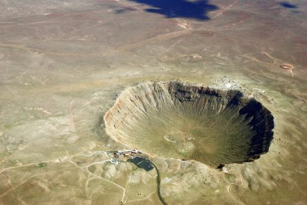 Image of impact crater Barringer, just outside of Flagstaff AZ