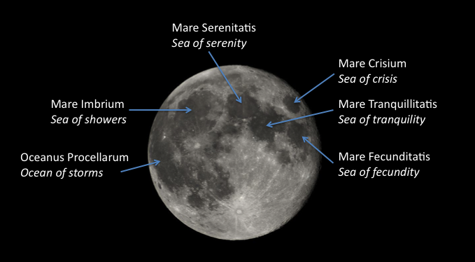 Image of the Moon's lunar seas