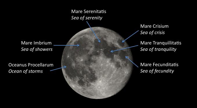 Image of the Moon's lunar seas