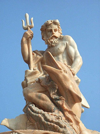 Photo of sculpture of Poseidon