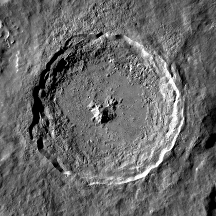 Photo of Closeup of Tycho Crater on Moon