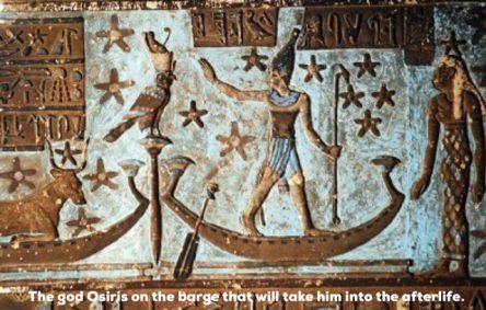 Ancient painting of Osiris