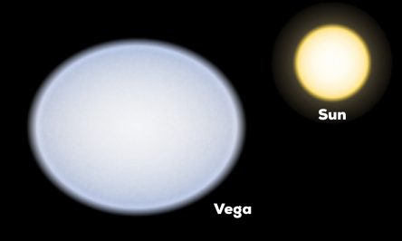 Graphic of Vega and the Sun