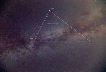 Summer Triangle in Milk Way