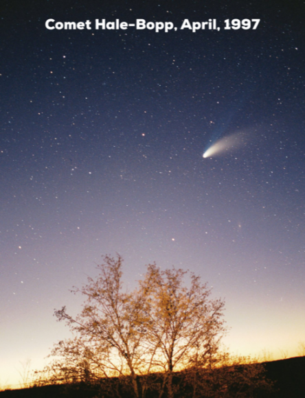 Photo of comen Hale-Bopp
